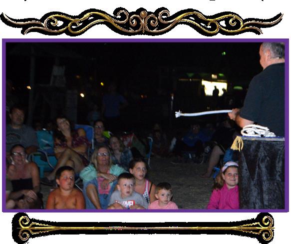 Beachcomber Campground magic show cape may nj